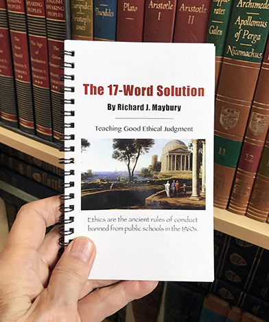 High school graduates, get a good job without experience by studying The 17-Word Solution handbook and becoming Ethics Certified.