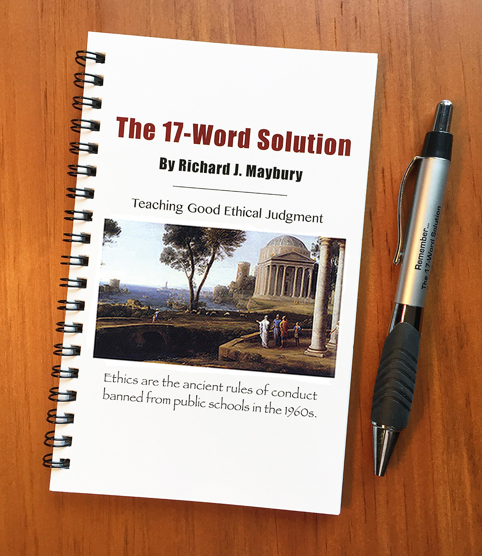 How to impress an interviewer by studying The 17-Word Solution handbook and becoming Ethics Certified.