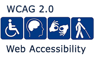 Web Accessibility logo and declartion W C A G Two Point Zero